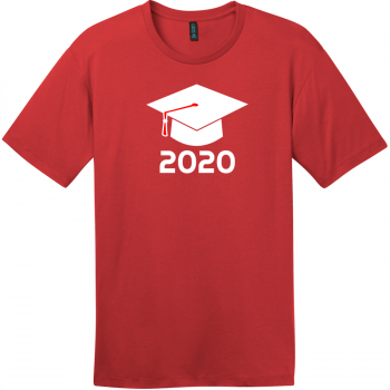Class of 2020 T-Shirt Classic Red District Perfect Weight Tee DT104