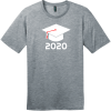 Class of 2020 T-Shirt Heathered Steel District Perfect Weight Tee DT104