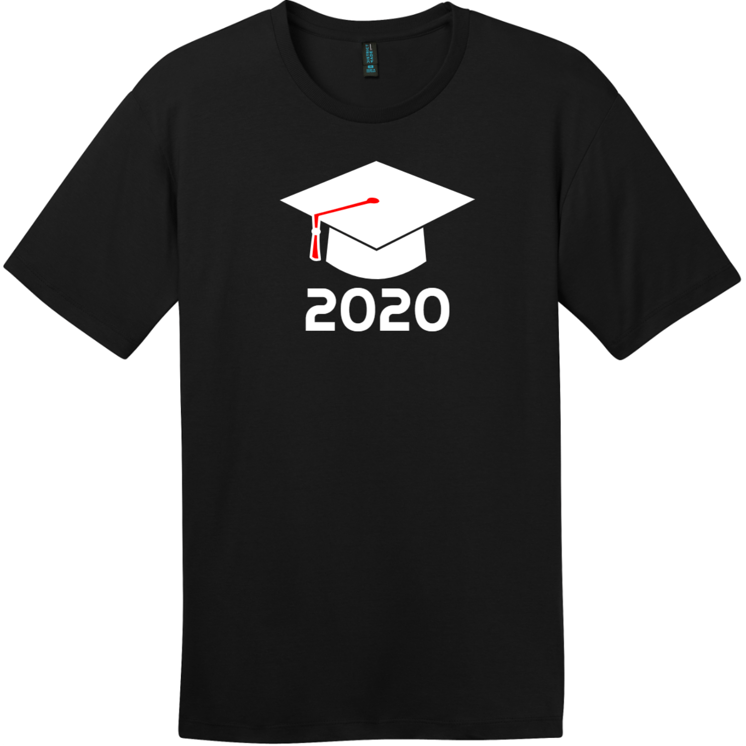Class of 2020 T-Shirt Jet Black District Perfect Weight Tee DT104