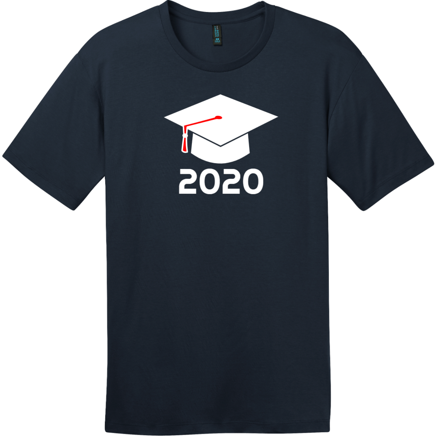 Class of 2020 T-Shirt New Navy District Perfect Weight Tee DT104