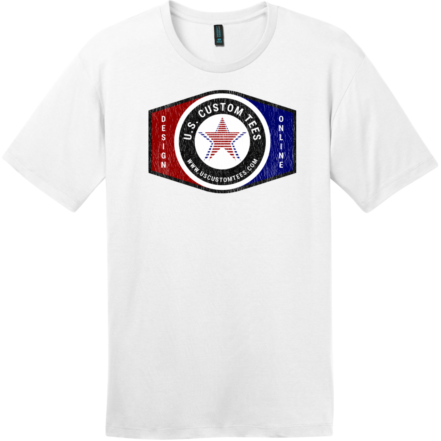 Design Your Own T-Shirts At US Custom Tees Bright White District Perfect Weight Tee DT104