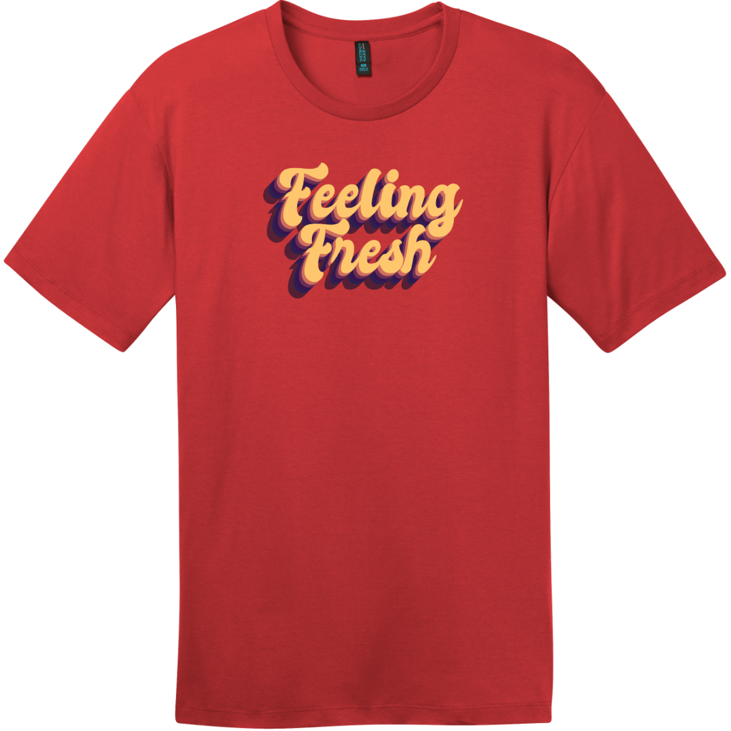 Feeling Fresh Retro T-Shirt Classic Red District Perfect Weight Tee DT104