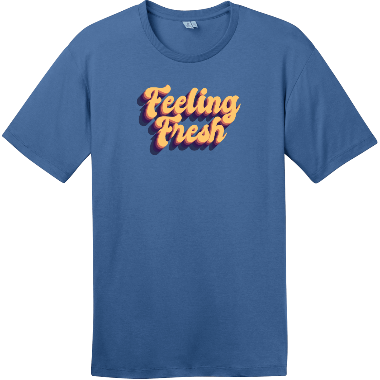 Feeling Fresh Retro T-Shirt Maritime Blue District Perfect Weight Tee DT104