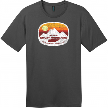 Gatlinburg Smoky Mountains Tennessee T-Shirt Charcoal District Perfect Weight Tee DT104