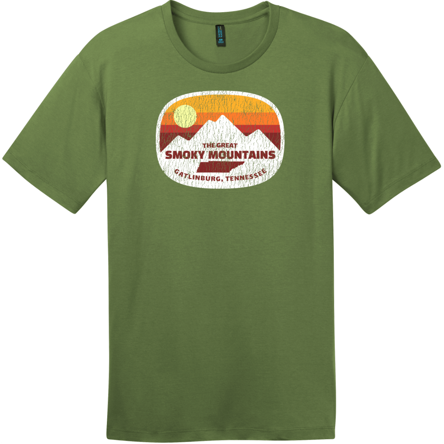 Gatlinburg Smoky Mountains Tennessee T-Shirt Fresh Fatigue District Perfect Weight Tee DT104