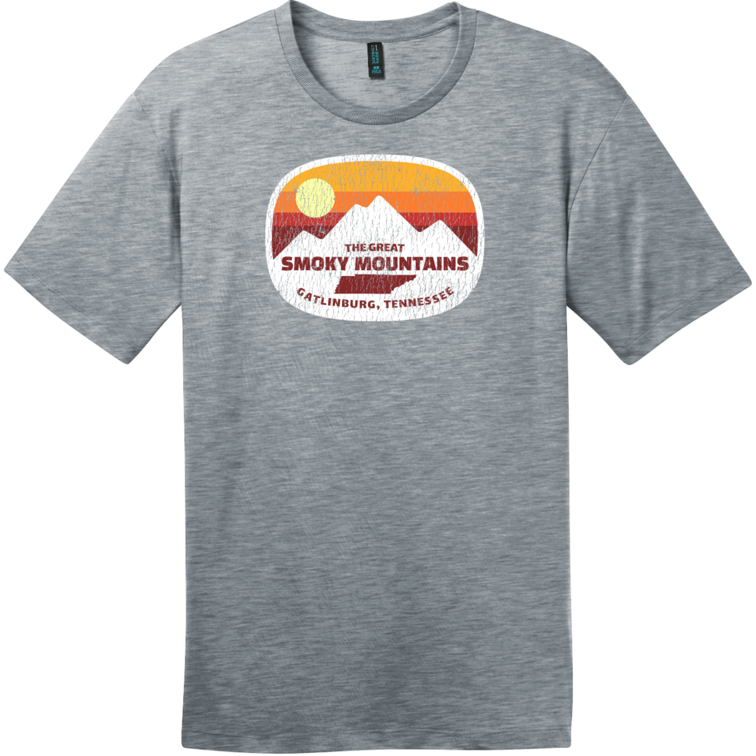Gatlinburg Smoky Mountains Tennessee T-Shirt Heathered Steel District Perfect Weight Tee DT104