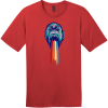 Gorilla Puking Rainbows T-Shirt Classic Red District Perfect Weight Tee DT104
