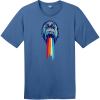 Gorilla Puking Rainbows T-Shirt Maritime Blue District Perfect Weight Tee DT104