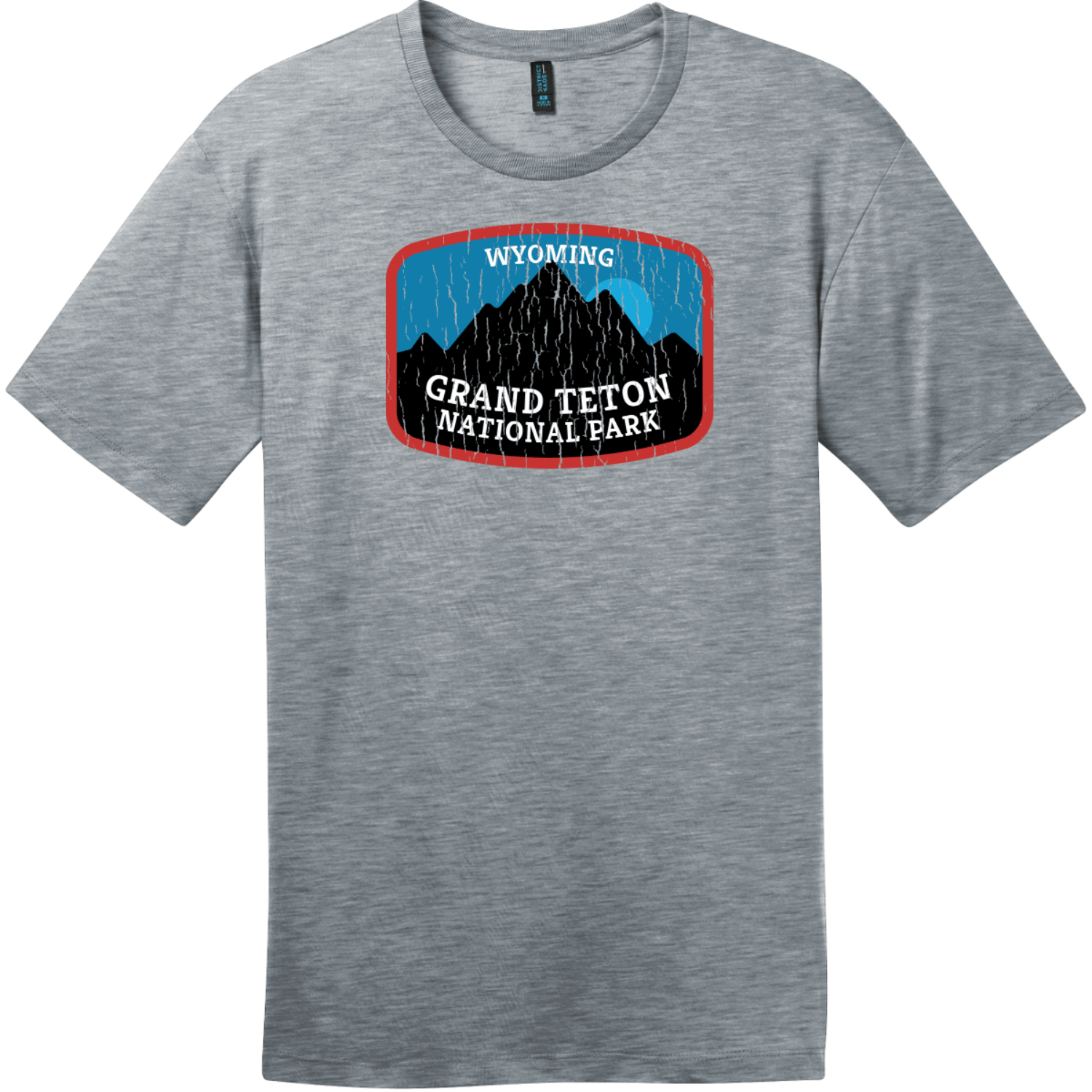 Grand Teton National Park Wyoming T-Shirt Heathered Steel District Perfect Weight Tee DT104