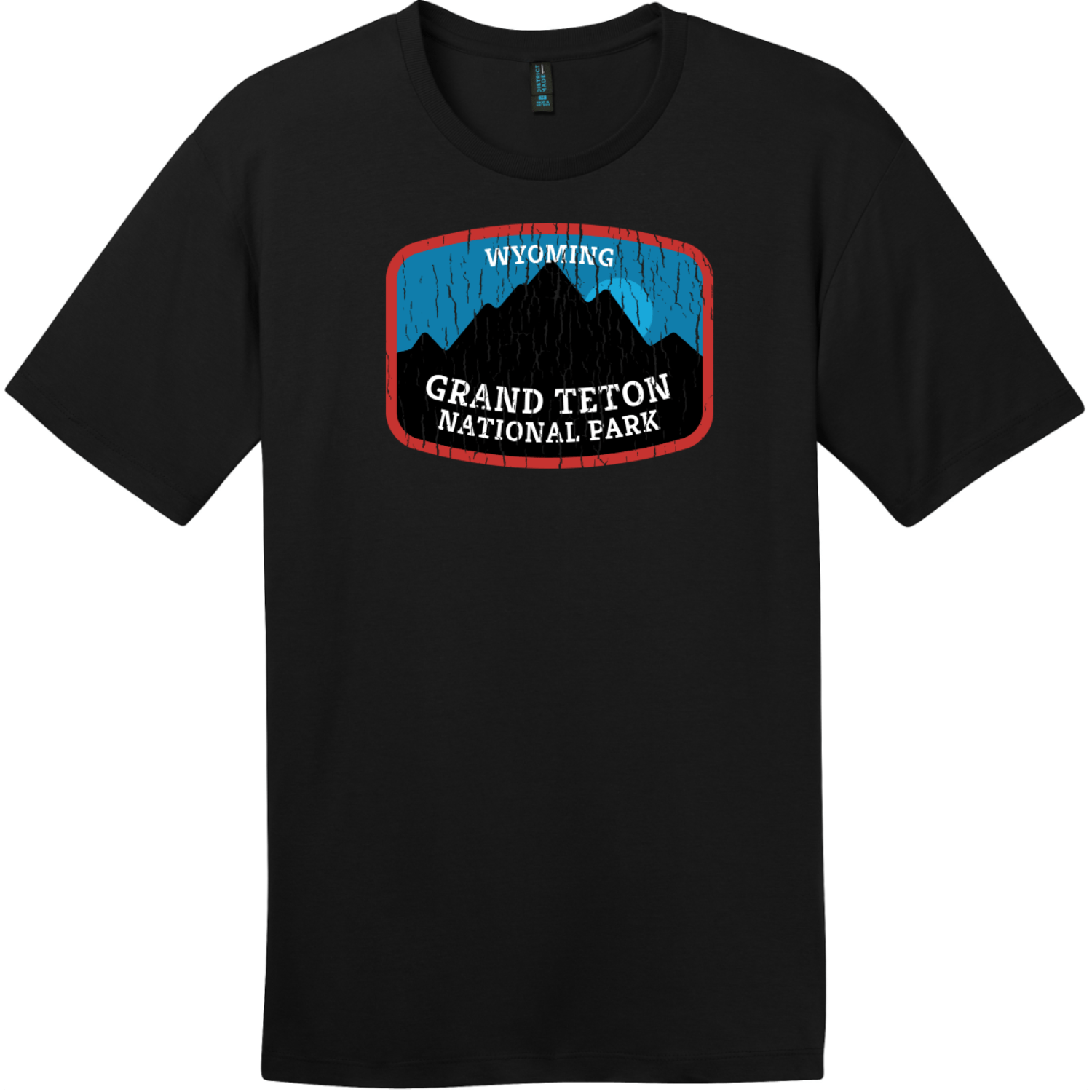 Grand Teton National Park Wyoming T-Shirt Jet Black District Perfect Weight Tee DT104
