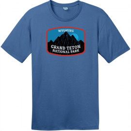 Grand Teton National Park Wyoming T-Shirt Maritime Blue District Perfect Weight Tee DT104