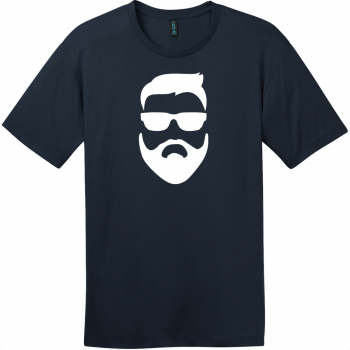 Hipster Beard And Sunglasses T-Shirt New Navy District Perfect Weight Tee DT104