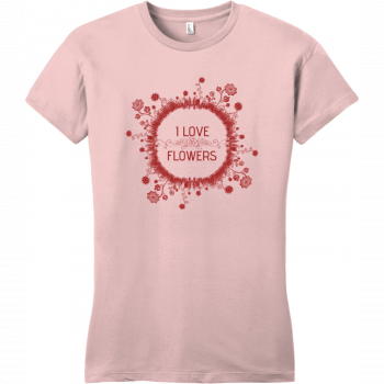 I Love Flowers T-Shirt For Women Dusty Lavender District Women's Very Important Tee DT6002