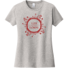 I Love Flowers T-Shirt For Women Light Heather Gray District Women's Very Important Tee DT6002