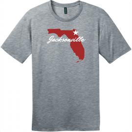 Jacksonville Florida State T-Shirt Heathered Steel District Perfect Weight Tee DT104