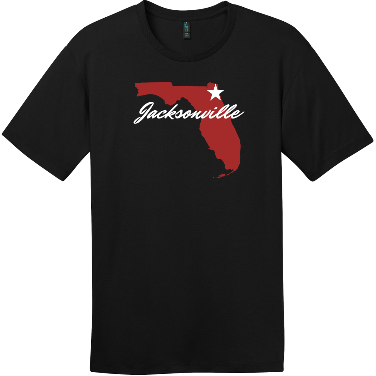 Jacksonville Florida State T-Shirt Jet Black District Perfect Weight Tee DT104