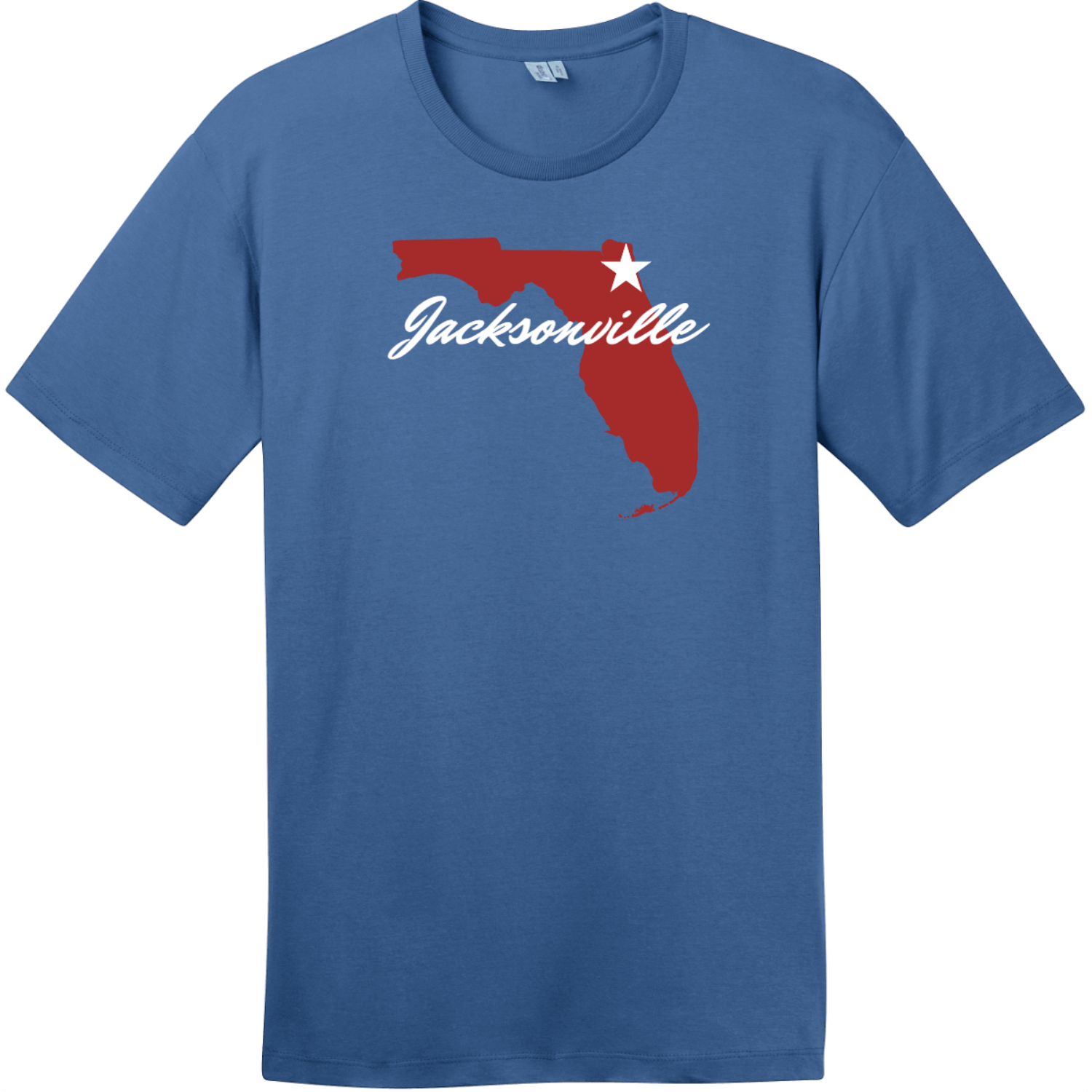 Jacksonville Florida State T-Shirt Maritime Blue District Perfect Weight Tee DT104