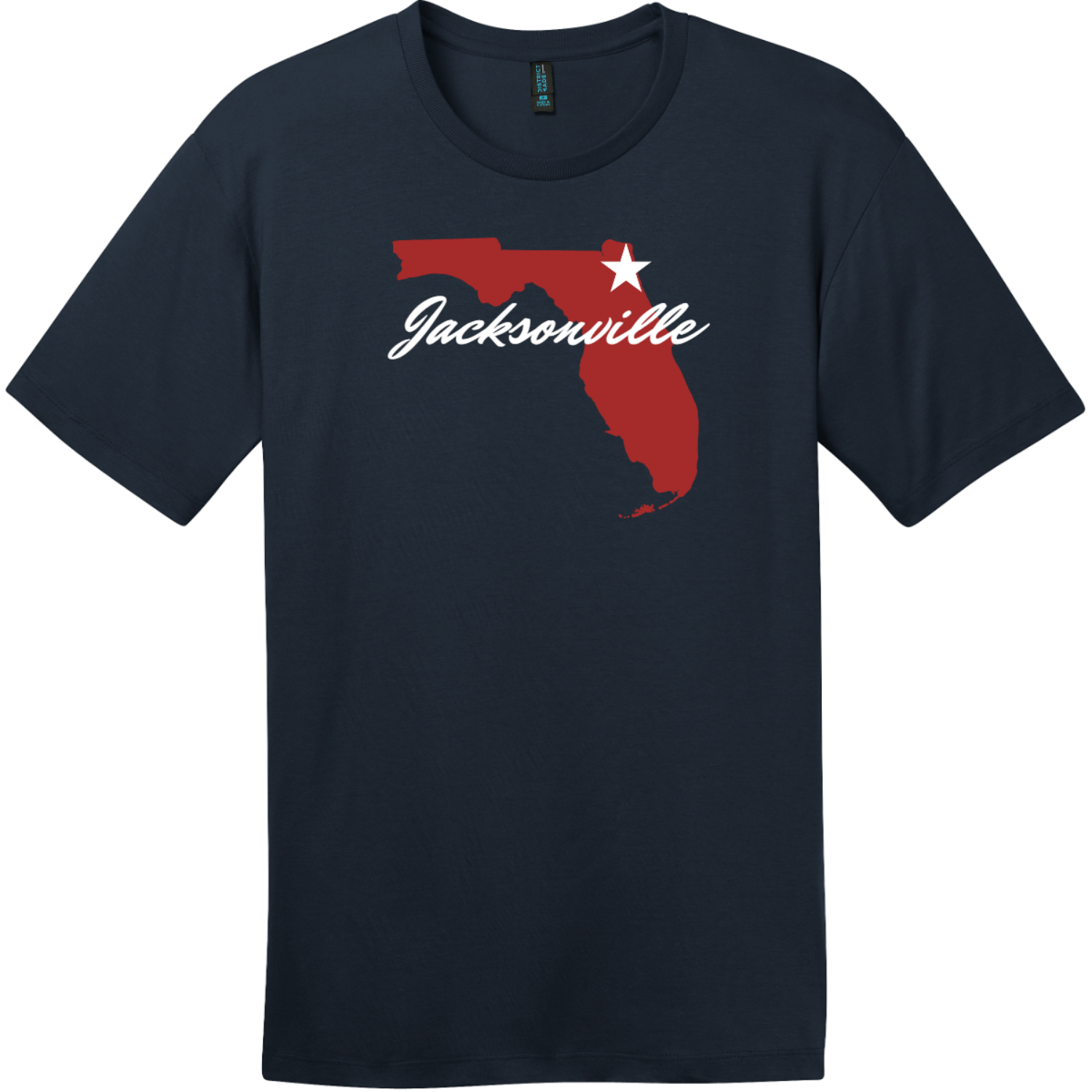 Jacksonville Florida State T-Shirt New Navy District Perfect Weight Tee DT104