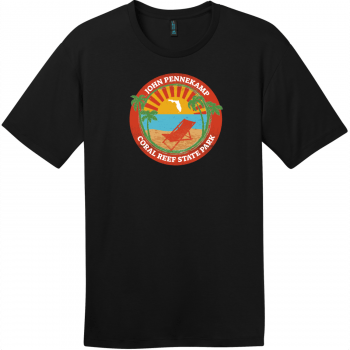 John Pennekamp Coral Reef State Park T-Shirt Jet Black District Perfect Weight Tee DT104