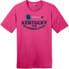 Kentucky Bluegrass State Banjo Retro T-Shirt Dark Fuchsia District Perfect Weight Tee DT104