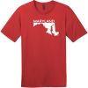 Maryland State Outline T-Shirt Classic Red District Perfect Weight Tee DT104