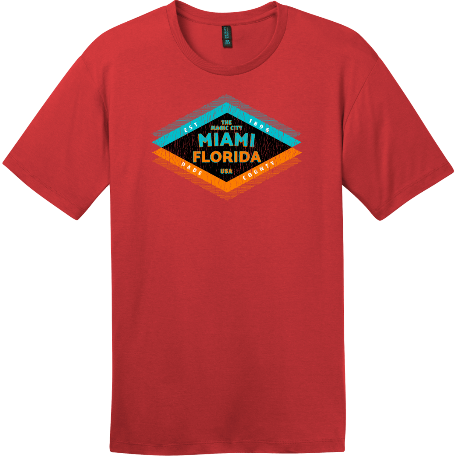 Miami Florida The Magic City T-Shirt Classic Red District Perfect Weight Tee DT104