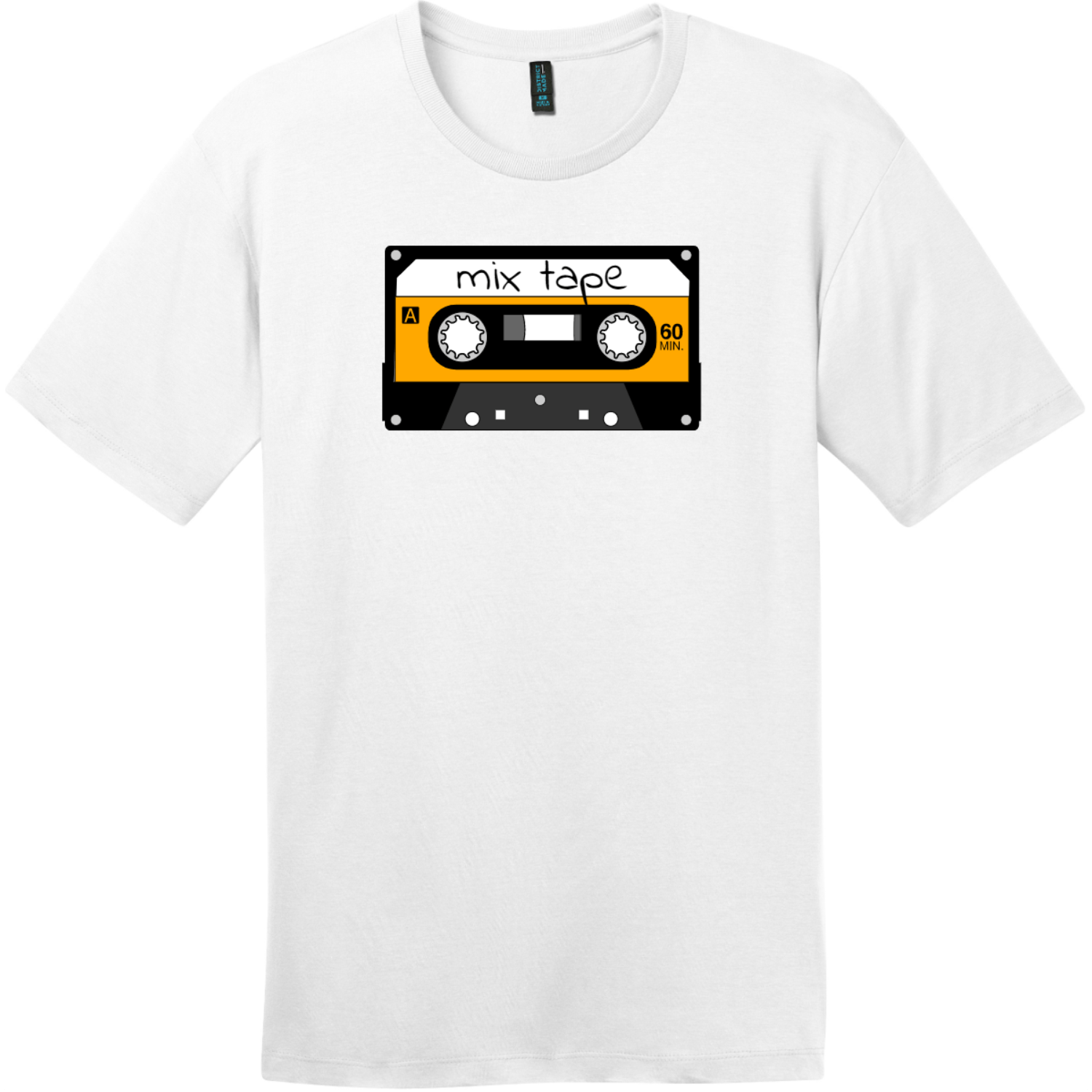 Mix Tape Cassette T-Shirt Bright White District Perfect Weight Tee DT104