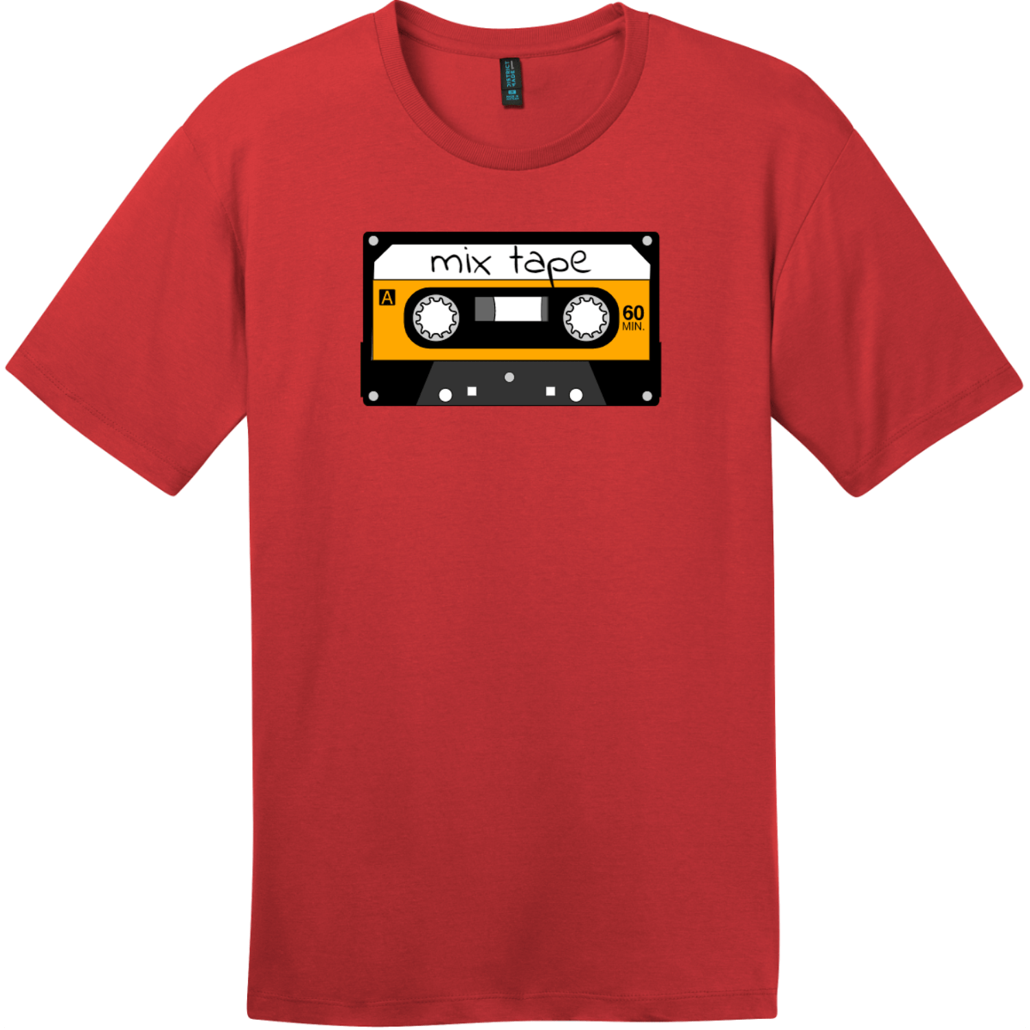 Mix Tape Cassette T-Shirt Classic Red District Perfect Weight Tee DT104