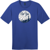 New York Retro Distressed T-Shirt Deep Royal District Perfect Weight Tee DT104