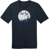 New York Retro Distressed T-Shirt New Navy District Perfect Weight Tee DT104