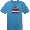 One Nation Indivisible American Flag T-Shirt Clean Denim District Perfect Weight Tee DT104