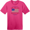 One Nation Indivisible American Flag T-Shirt Dark Fuchsia District Perfect Weight Tee DT104