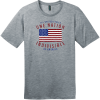 One Nation Indivisible American Flag T-Shirt Heathered Steel District Perfect Weight Tee DT104