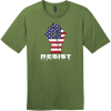 Resist American Flag Fist T-Shirt Fresh Fatigue District Perfect Weight Tee DT104