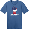Resist American Flag Fist T-Shirt Maritime Blue District Perfect Weight Tee DT104