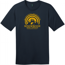 Snowshoe West Virginia Mountain T-Shirt New Navy District Perfect Weight Tee DT104