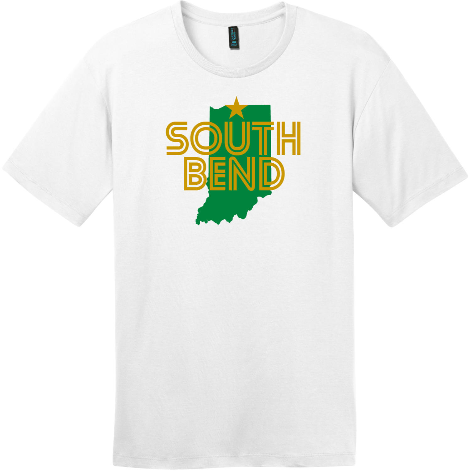 South Bend Indiana T-Shirt Bright White District Perfect Weight Tee DT104