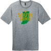 South Bend Indiana T-Shirt Heathered Steel District Perfect Weight Tee DT104