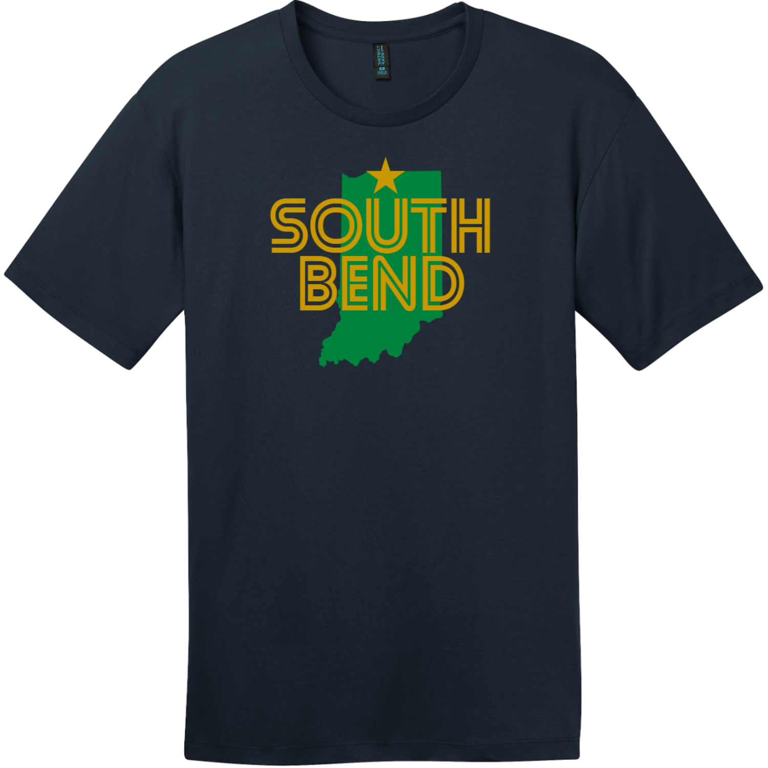 South Bend Indiana T-Shirt New Navy District Perfect Weight Tee DT104