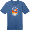South Padre Island Texas Palm Tree T-Shirt Maritime Blue District Perfect Weight Tee DT104