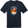 South Padre Island Texas Palm Tree T-Shirt New Navy District Perfect Weight Tee DT104