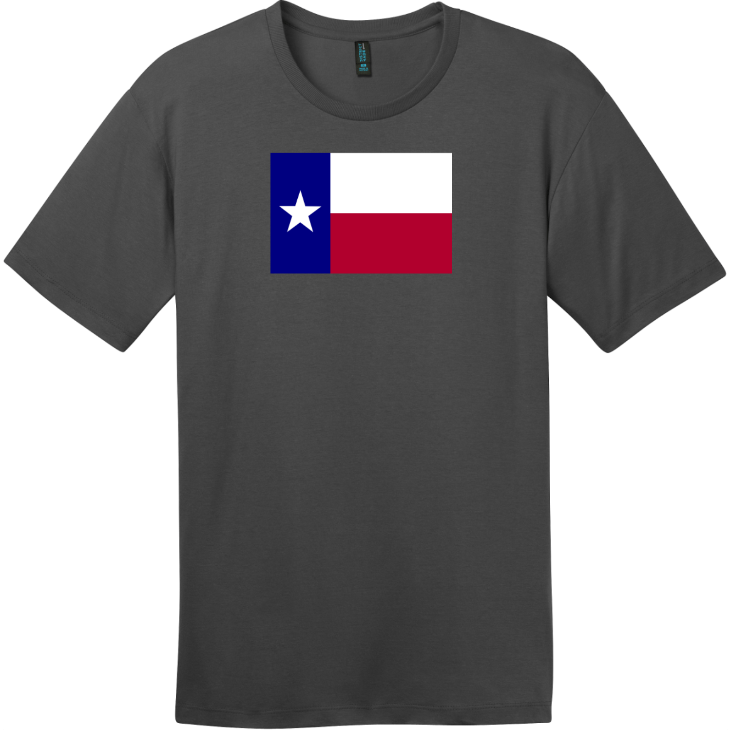 Texas Lone Star State Flag T-Shirt Charcoal District Perfect Weight Tee DT104
