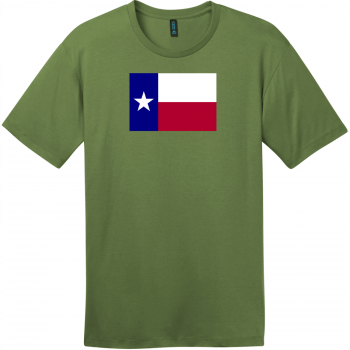 Texas Lone Star State Flag T-Shirt Fresh Fatigue District Perfect Weight Tee DT104