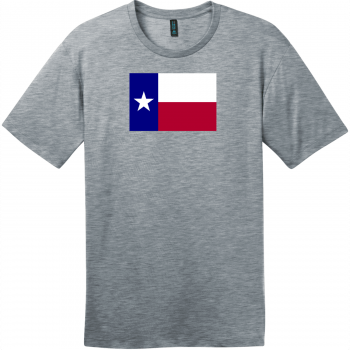 Texas Lone Star State Flag T-Shirt Heathered Steel District Perfect Weight Tee DT104
