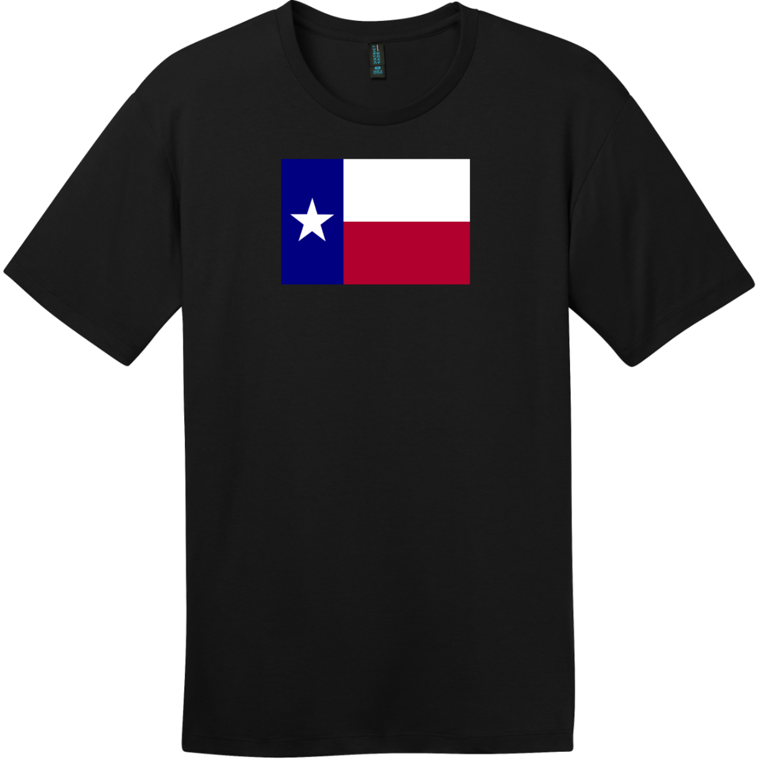 Texas Lone Star State Flag T-Shirt Jet Black District Perfect Weight Tee DT104