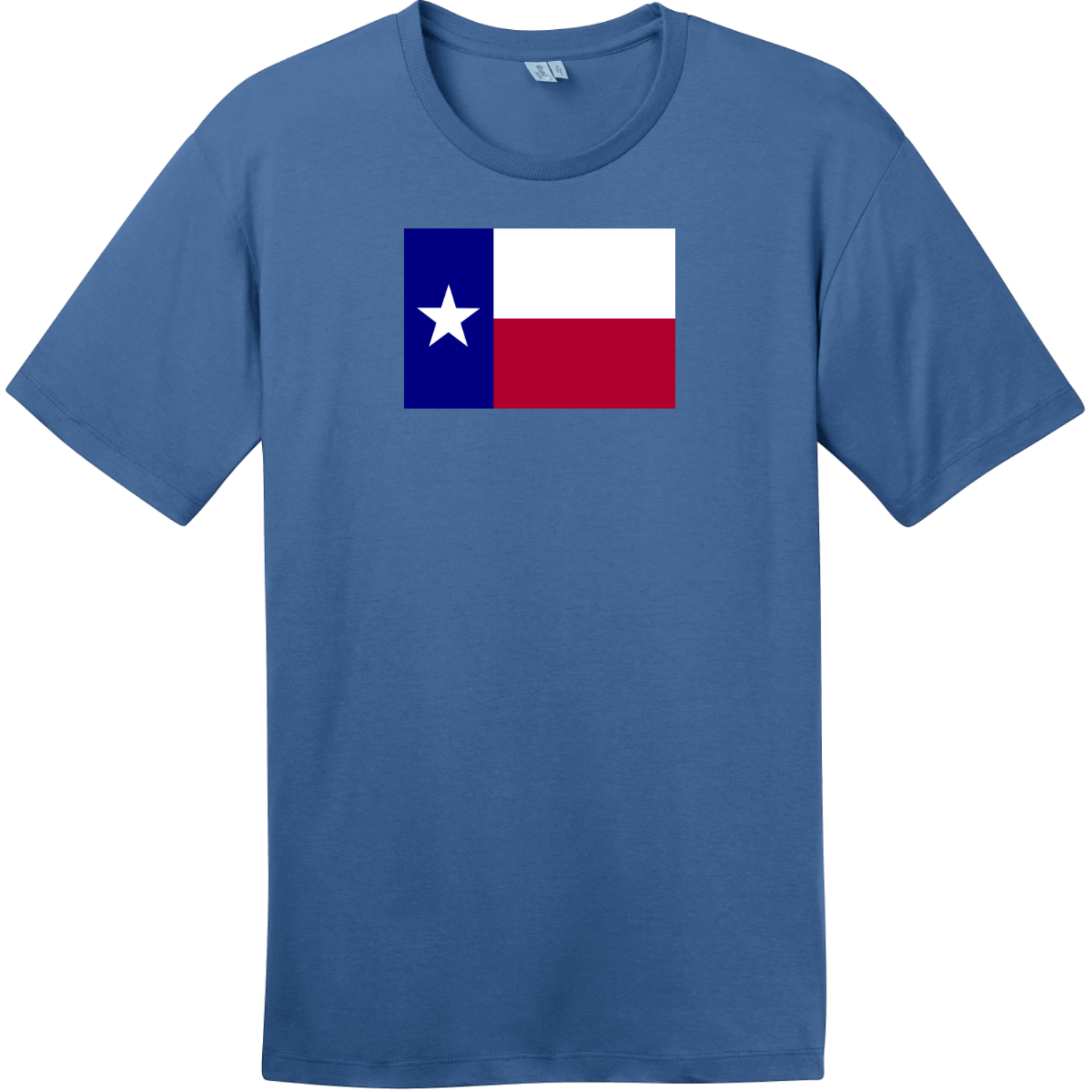 Texas Lone Star State Flag T-Shirt Maritime Blue District Perfect Weight Tee DT104