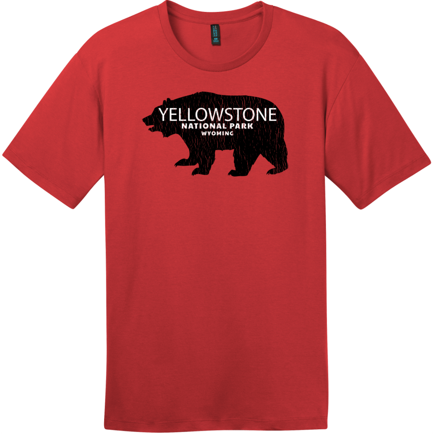 Yellowstone National Park Wyoming Bear T-Shirt Classic Red District Perfect Weight Tee DT104