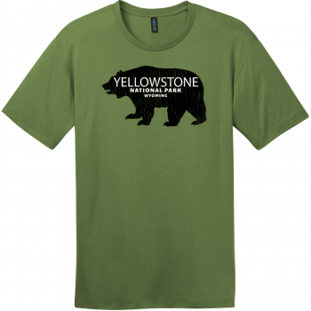 Yellowstone National Park Wyoming Bear T-Shirt Fresh Fatigue District Perfect Weight Tee DT104