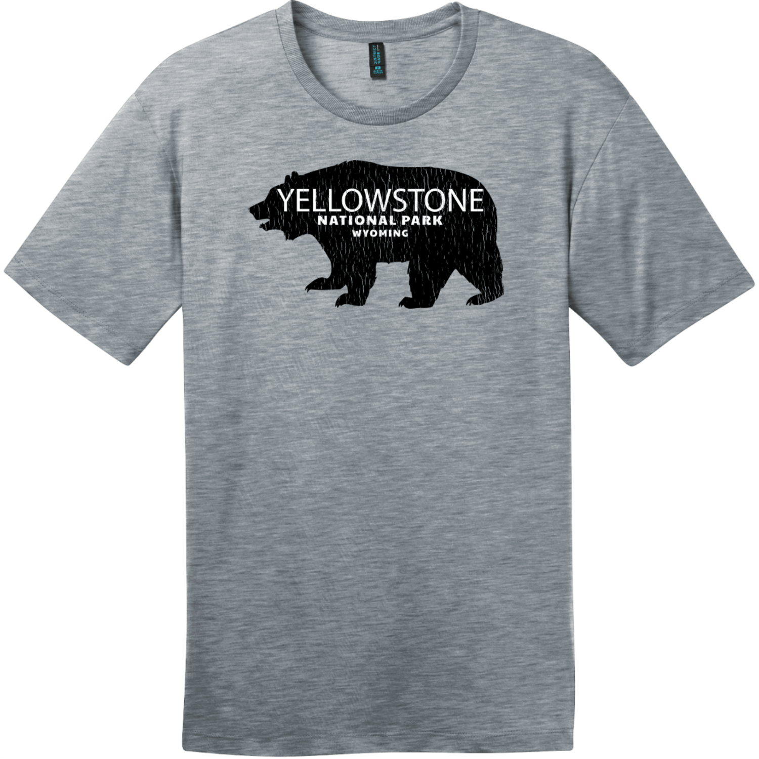 Yellowstone National Park Wyoming Bear T-Shirt Heathered Steel District Perfect Weight Tee DT104