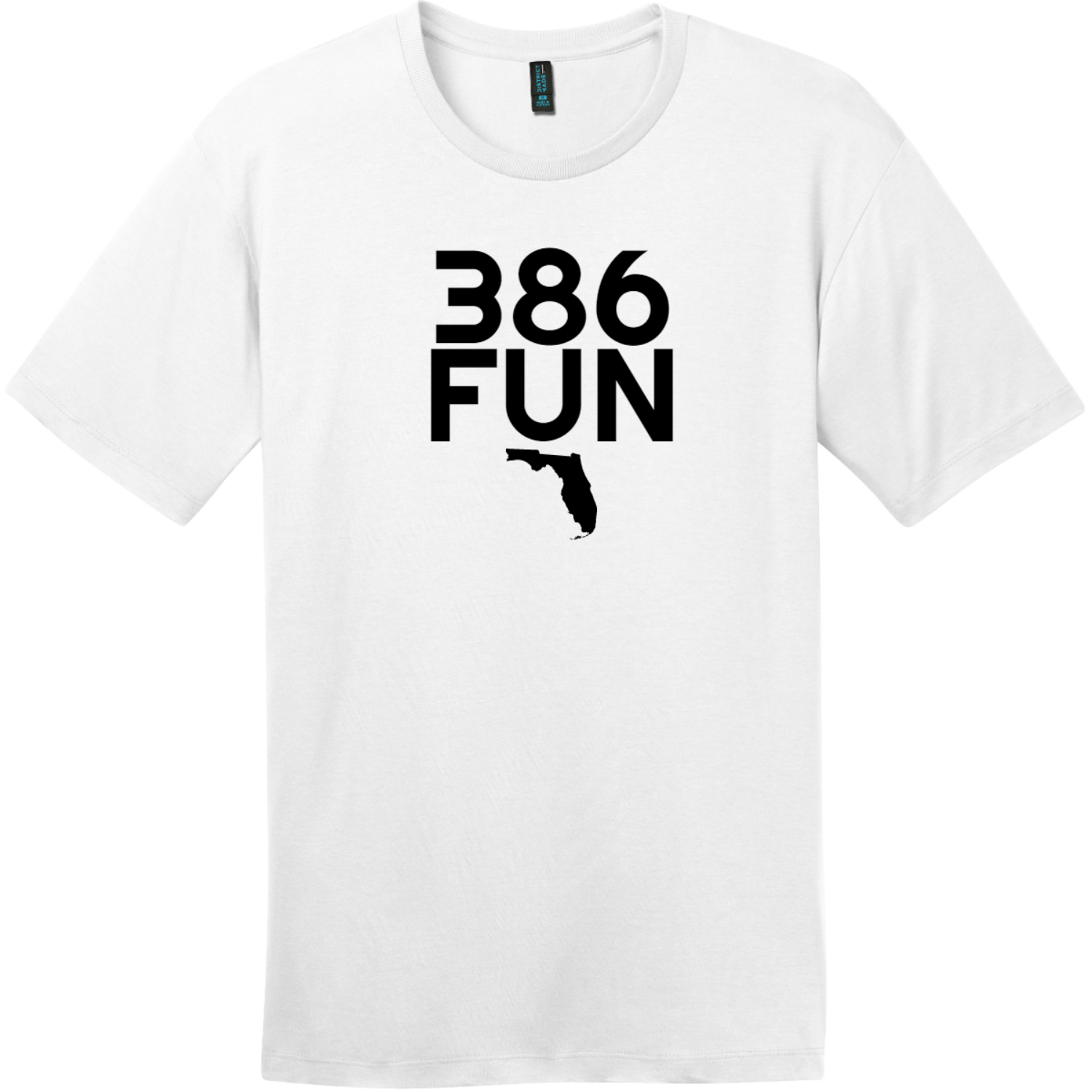 386 Fun Florida T-Shirt Bright White District Perfect Weight Tee DT104